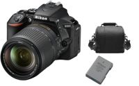 NIKON D5600 reflex 24.2 mpix KIT AF-S 18-140mm F3.5-5.6G ED VR DX + Sac + EN-EL14A Battery