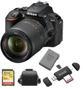 NIKON D5600 reflex 24.2 mpix KIT AF-S 18-140mm F3.5-5.6G ED VR DX+SD 64Go + Sac + EN-EL14A Batterie + Memory Card Reader