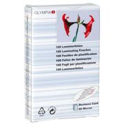 Olympia 100 Laminating Pouches Business Cards 80 Micron One Size