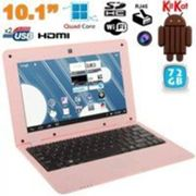Ordinateur / PC Portable Mini Android Netbook Ultra 10 Pouces Wifi Ethernet Usb 72go Rose - Yonis Rose