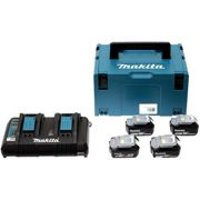 MAKITA 197626-8 chargeur rapide double + 4 batteries 5Ah + Mak-Pac Taille 4