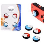 Pack de 4 Caps en silicone pour Nintendo Switch Joy-Con Pokemon Ball