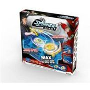 SPINNER MAD by Silverlit Pack Deluxe 2 joueurs - 86331 - 1 arène, 2 blasters et 2 toupies LED