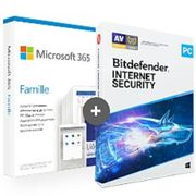 Pack Office 365 Famille + Bitdefender Internet Security 2020 - 5 PC - 1 an