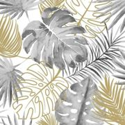 Papier peint Feuilles de monstera Noir - Dutch Wallcoverings
