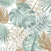 Papier peint Feuilles de monstera Vert - Dutch Wallcoverings