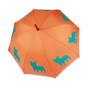 Parapluie orange motif Bouledogue français