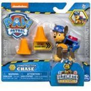 Pat patrouille ultimate rescue construction : chien chase sac a dos transformable + 2 plots - figurine animaux - paw patrol