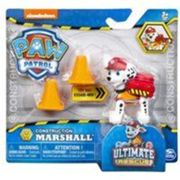 Pat patrouille ultimate rescue construction : marcus le pompier sac a dos transformable + 2 plots - figurine chien - animaux - paw patrol
