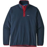 PATAGONIA M's Micro D Snap-t P/o New Navy/classic Red - Polaire ski - Bleu - taille S