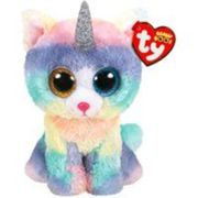Peluche Heather le chat licorne Beanie Boo's Ty Small