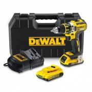 Perceuse Visseuse compacte DEWALT 18V XR 2Ah Li-Ion Brushless - 2 batteries, chargeur, en coffret - DCD790D2