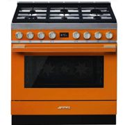Piano de cuisson smeg portofino cpf9gpor orange