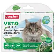 Pipettes Répulsives Antiparasitaires Beaphar Chat Adulte - 3x1ml