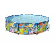 Piscine autoportante 305x66cm decor animaux du monde Steel Pro BESTWAY C1151667