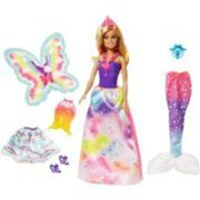 Playset Barbie Dreamtopia 3 tenues