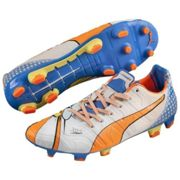 Puma Puma Chaussures de football Football evoPOWER 1.2 POP FG 15/16 white-orange clown fish-electric blue lemonade 7,5 (UK)