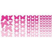 RoomMates stickers muraux Pink Butterflies vinyle 75 pièces Rose