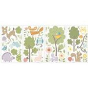 RoomMates stickers muraux Woodland Animalsvinyle 89 pièces Multicolore