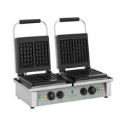 Royal Catering Gaufrier carré - 2 x 2.000 watts