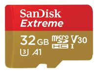 SanDisk Extreme - Carte mémoire flash (adaptateur microSDHC - SD inclus(e)) - 32 Go - A1 / Video Class V30 / UHS-I U3 - microSDHC UHS-I