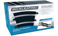 Scalextric Extension Pack 6 132 Scale Radius 3 Curves X 8 C8555 Slot Car Track
