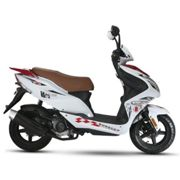 Scooter 50 cc 4T R8 blanc/ rouge thermique Eurocka