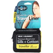 Sea To Summit Silk/cotton Travel Liner Traveller With Pillow Slip 225 x 92 cm Navy