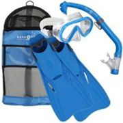 Set de Plongée avec Tuba Aqua Lung Sport Junior Santa Cruz Set Blue (S/M)