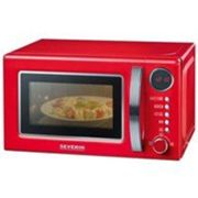 SEVERIN Retro MW 7893 - 125 year Anniversary Edition - four micro-ondes grill - pose libre - 20 litres - 700 Watt - rouge/chrome