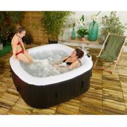 Spa gonflable 4 places Carré 154x154x165 cm MALAGA COCOONING