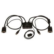 Startech 2 Port Usb Vga Cable Kvm Switch One Size Black
