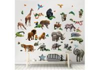 Stickers monde de la jungle Walltastic