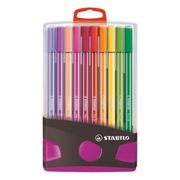 Stylo feutre Stabilo Pen 68 couleurs assorties - Chevalet de 20