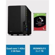 Synology DS218 Serveur NAS IRONWOLF 2To (2x1To) Noir