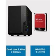 Synology DS218 Serveur NAS WD RED 24To (2x12To) Noir