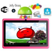 Tablette tactile Android 4.1 Jelly Bean 7 pouces capacitif 6 Go Rose