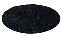 Tapis Shaggy rond : anthracite / Ø 160