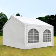 Tente de réception 3x3m PE 240g/m² blanc imperméable Intent24.fr