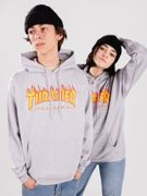 Thrasher Flame Hoodie gris XL