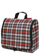 Trousse de toilette Reisenthel Toiletbag XL Glencheck Red noir
