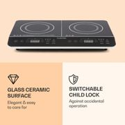 VariCook Slim Plaque de cuisson double à induction tactile à minuterie 3500 W 240°