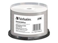 Verbatim DataLifePlus Professional - 50 x DVD+R DL - 8.5 Go 8x - surface imprimable thermique large - spindle