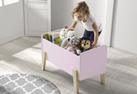 Vipack Coffre Jouets Kiddy Vieux Rose