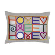 VITRA coussin HOME SWEET HOME (Gris clair - Tissu Twill et plume d'oie)