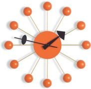 VITRA horloge murale BALL CLOCK (Orange - Métal / bois)