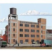 Walthers Cornerstone Series174 HO Scale Background Building - Kit River City Textiles - 12-78 x 2-38 x 11-18 32.1 x 5.9 x 27.8cm