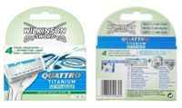 Wilkinson Sword Quattro For Men Sensitive Blades 4'S 1 Or 2 Pack One Pack