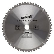 Wolfcraft Lame SC S/table CT 28 dts Diamètre 315 x 30 mm