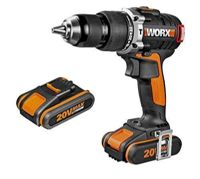 Worx WX373-Perceuse à percussion-20 V 2,0Ah-2 batteries Li-Ion